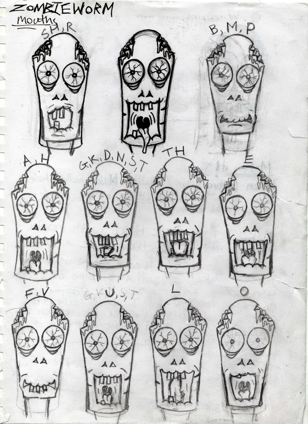 Zombieworm+mouths+sketches