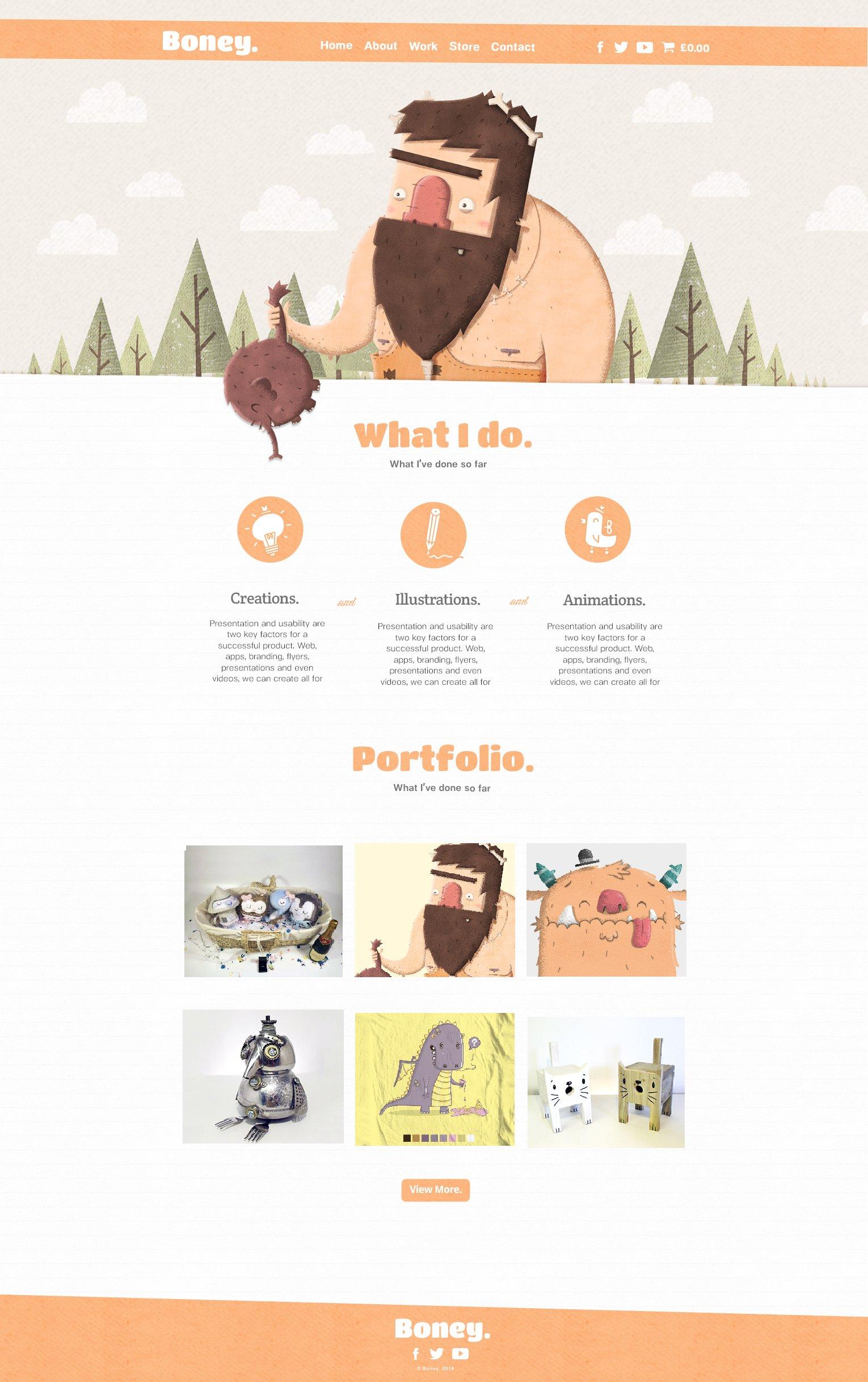 caveman-website