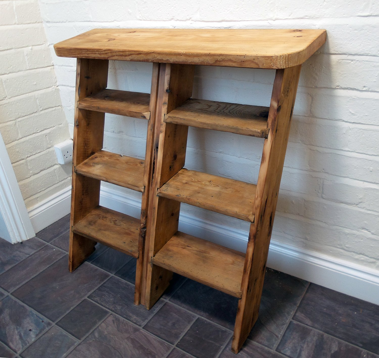 Shoe Rack Recycled from an Old Ladder (Making Furniture!)