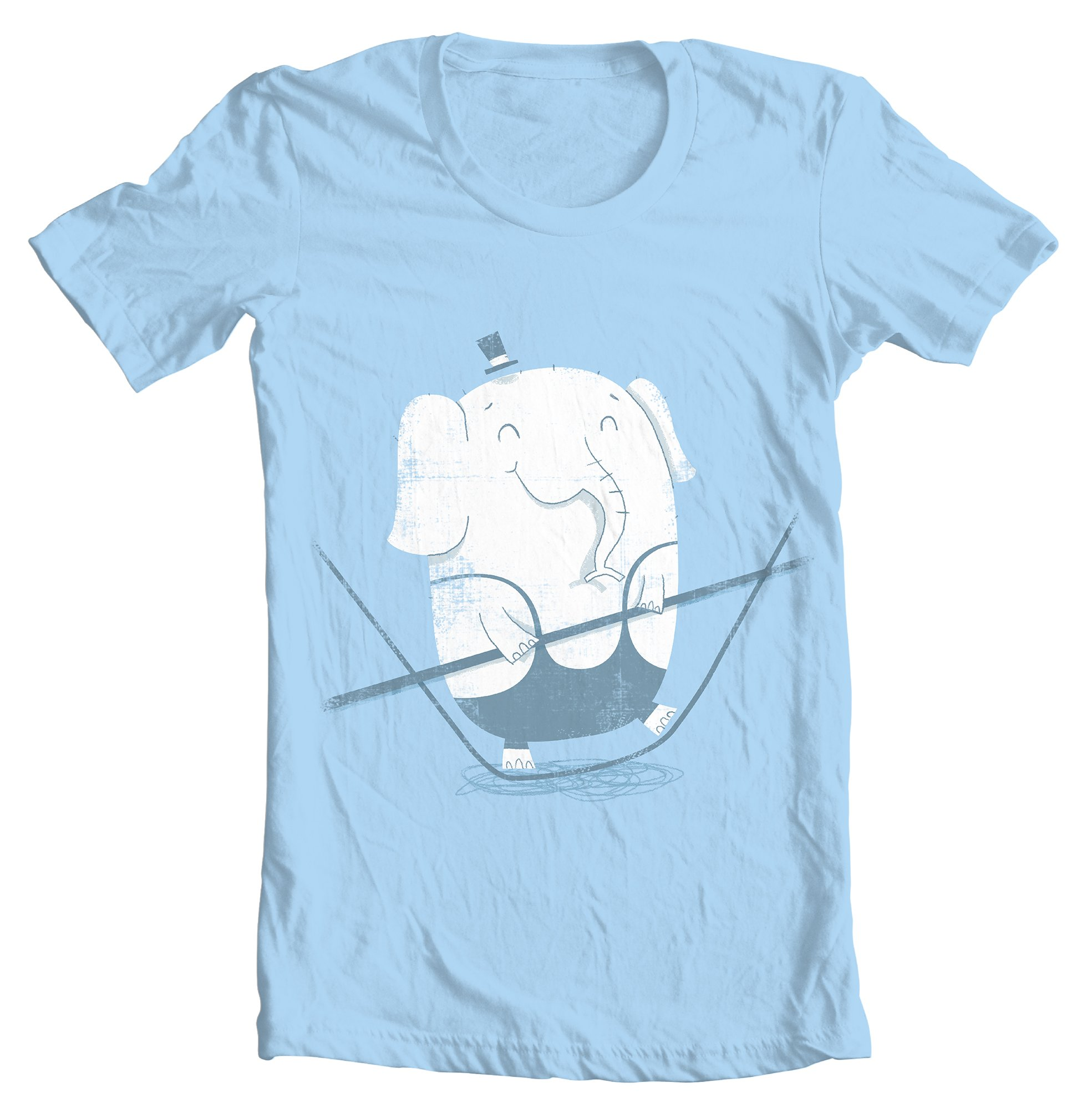 Tightrope Elephant T-shirt Design