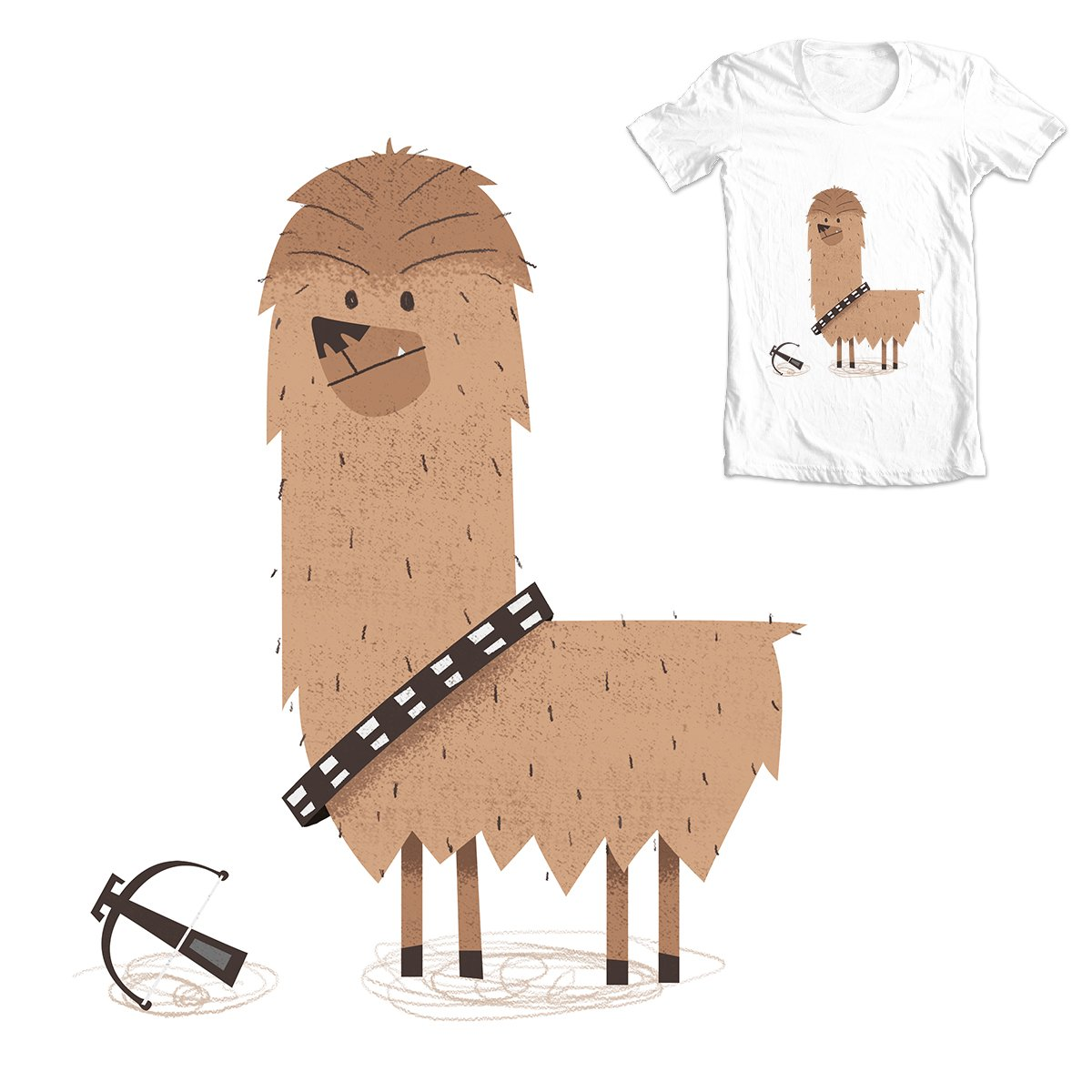 Alpaca Chewbacca Starwars Fanart Illustration