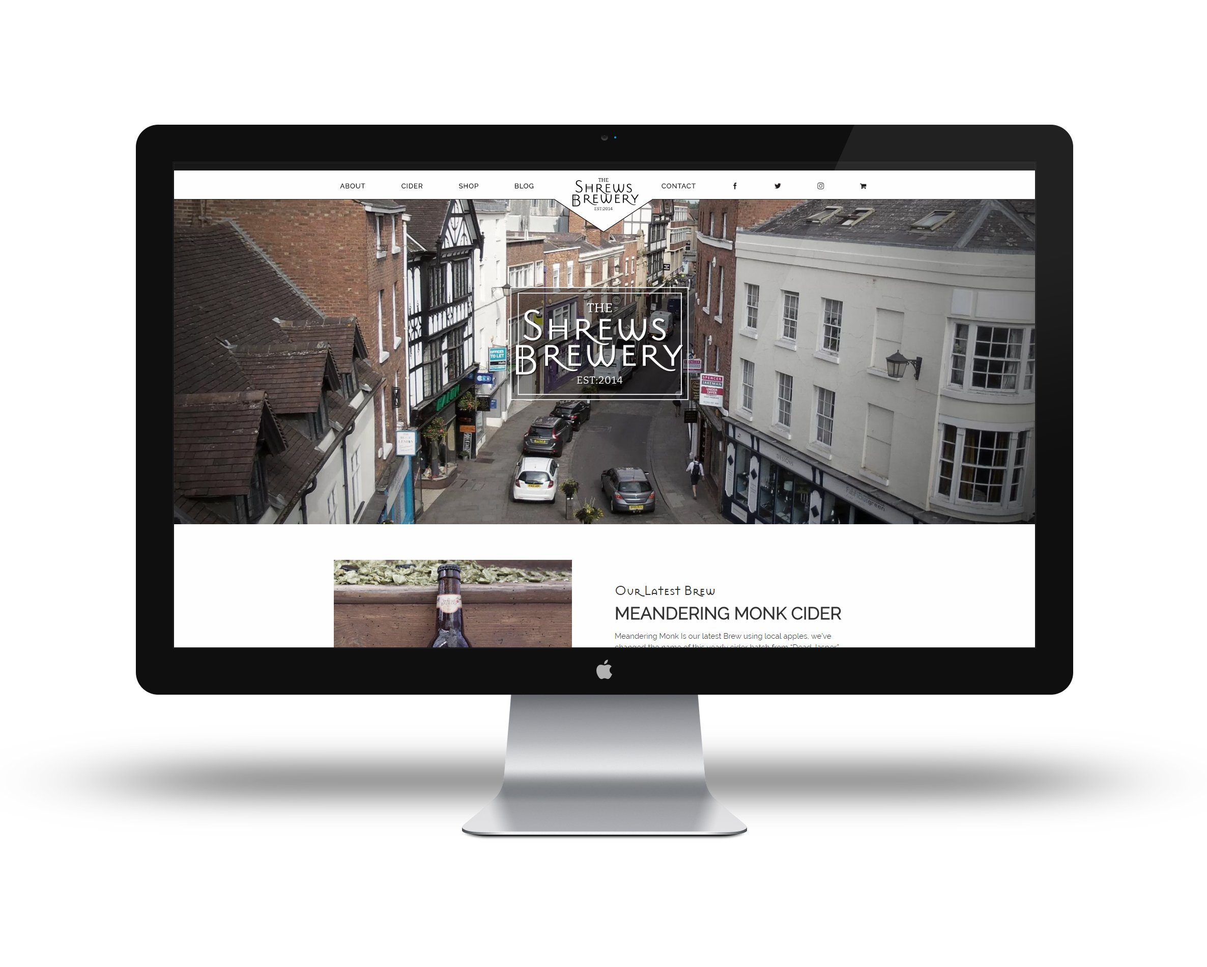 Shrewsbury website / branding - Shrewsbrewery